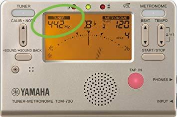 周波数の表示